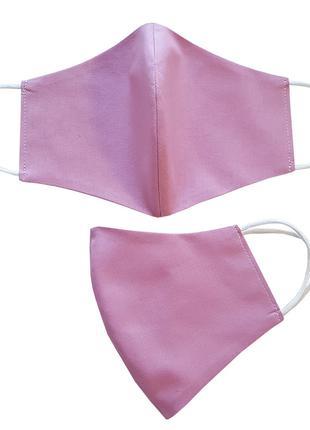 Маска для лица защитная Розовая