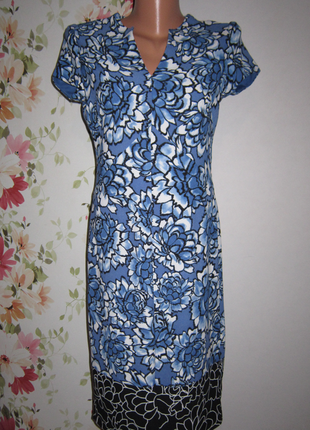 Приталенное платье цветочный принт