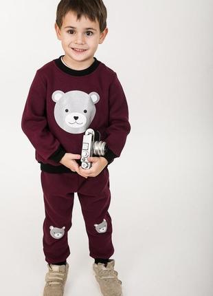 Трикотажный детский костюм свитшот штаны