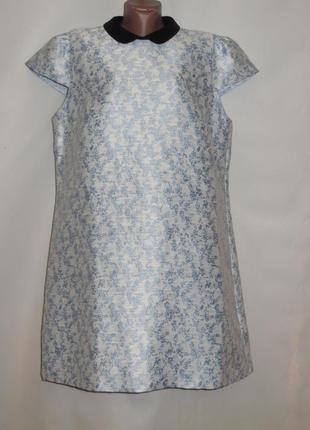 Нежное платье с воротничком р.18