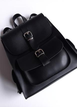 Рюкзак чорний трендовий базовий luck sherrys