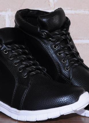 Женские ботинки, полусапожки, кроссовки, черные,  весна-осень,...