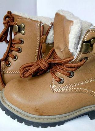 Зимние детские ботинки на мальчика, полусапожки на меху, зимня...