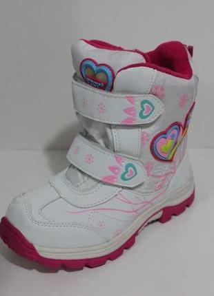 Зимние детские ботинки на девочку, полусапожки на меху, зимняя...