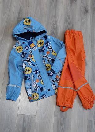 Комплект дождевик куртка на флисе и пштаны без подкладки lupil...