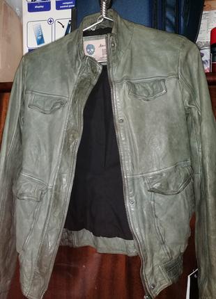 Новая женская кожаная куртка биркой ТМ Еffetto d' Italia