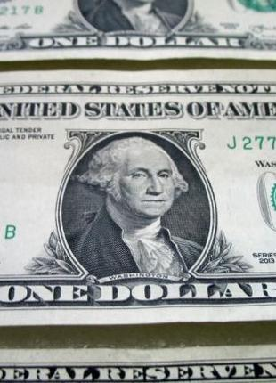 Бони банкнота 1 долар і 2 долара США UNC one dollar USA