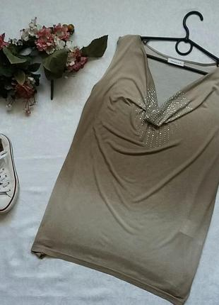 Блузка со стразами yessica l--46-48 размер.