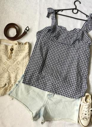 Легкая блузка в клетку next 16--52 размер.