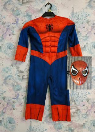 Карнавальный костюм спайдермена человек паук супергерой