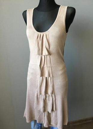 Платье с воланами vero moda s--44 размер.