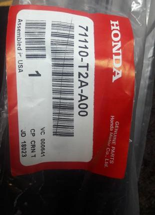 Молдинг переднего бампера 71110T2AA00 Honda Accord 9
