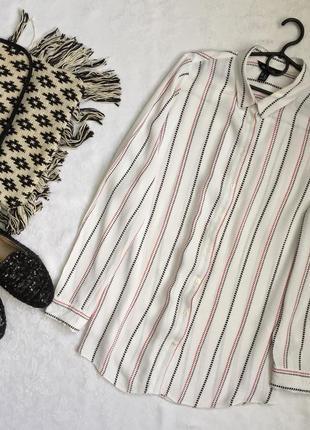 Блузка рубашка принт сердечки new look 16---50-52 размер.