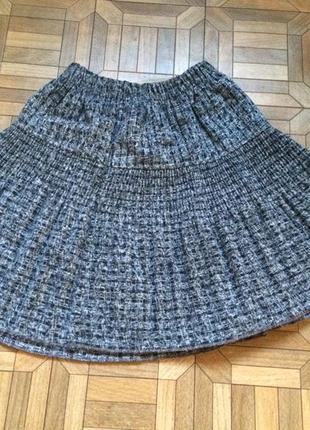 Теплая юбка на резинке с подкладкой
