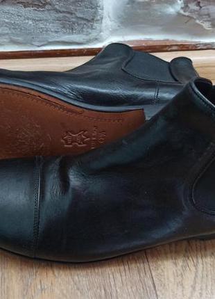 Круті шкіряні челсі ботінки туфлі дорогого італійського бренду...