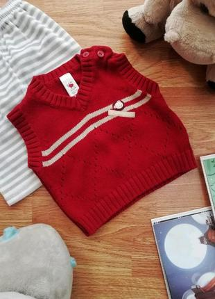 Детский плотный вязаный жилет - безрукавка для мальчика c&a - ...