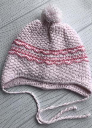 Детская шапочка для девочки на весну