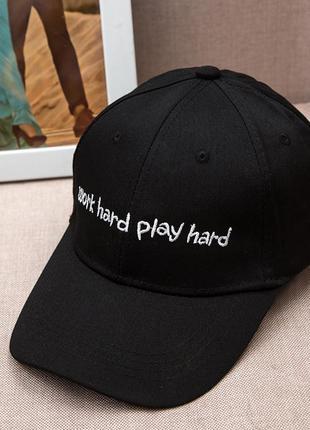 Бейсболка work hard play hard кепка панамка шапка 1339