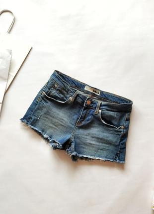 Короткие джинсовые шорты topshop w28
