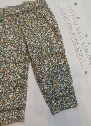 Лосины цветочный принт картерс carters штанишки для девочки
