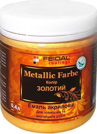 Эмаль Feidal Metallic Effect Золото 400 мл