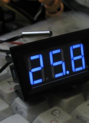 Цифровий світлодіодний термометр синього світіння
