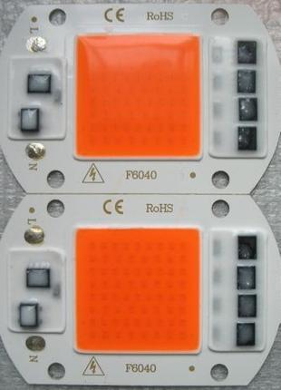 Повноспектрова фітолампа з led матрицею 50 Ватт 220 Вольт