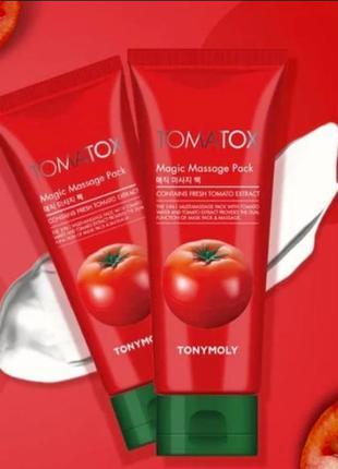 Детокс-маска маска для лица tony moly tomatox magic white mas...