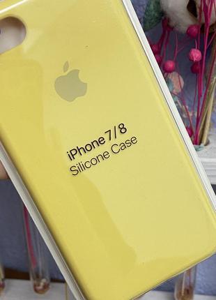 Силиконовый чехол silicone case iphone 7/8
