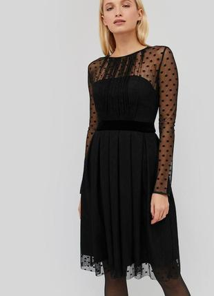 Платье сетка пышное горошек горох cardo
