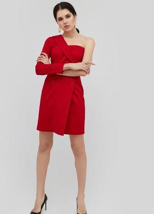Cardo красное платье на одно плече пиджак