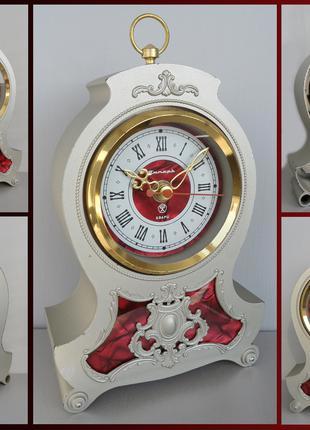 Часы КАМИННЫЕ с родным электро-механическим механизмом КАЧЕСТВО !