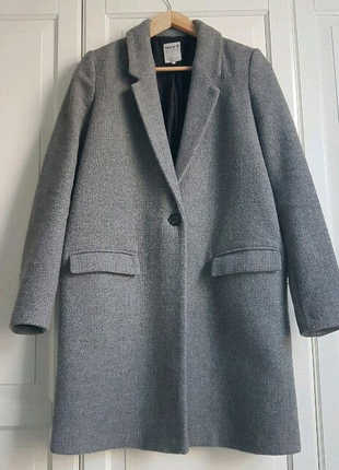 Серое пальто пиджак zara trf