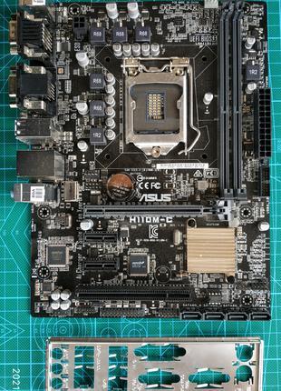 H110M-C, процесор G3900, кулер, ОЗУ ram 2*8GB 2133MHz CLK15 1151