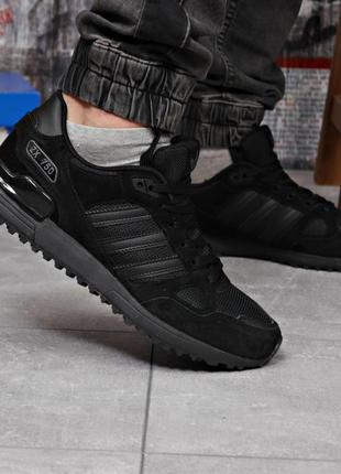 Замшевые кроссовки мужские 18164, adidas zx 750, черные, [ 43 ...