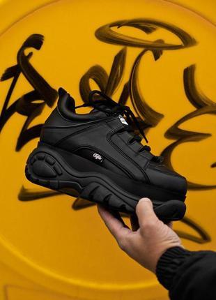 Шикарные женские кроссовки на платформе buffalo london black 😍...