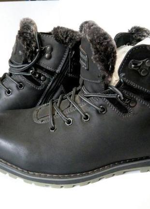 Мужские зимние ботинки, полусапожки зима, повседневная обувь, ...
