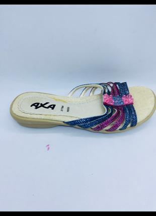 Axa италия кожаные босоножки сандали сланцы вьетнамки