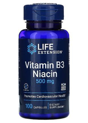 НИАЦИН, витамин В3, Life Extension,100 капсул
