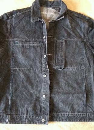 Куртка джинс дизайнерская Mecca USA чёрная XL эксклюзив из США