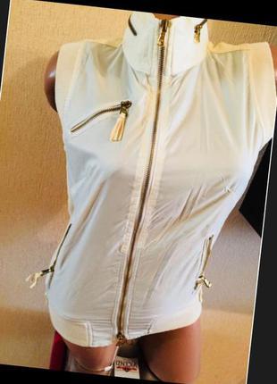 Италия дорогой бренд роскошный жилет жилетка со вставками кожи