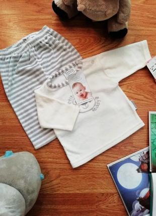 Детский новый велюровый костюм унисекс - возраст 0-6 месяцев