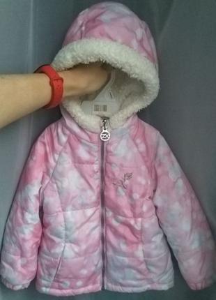 Качественная теплая куртка на меху ZeroXposur США розовая 2-3 ...