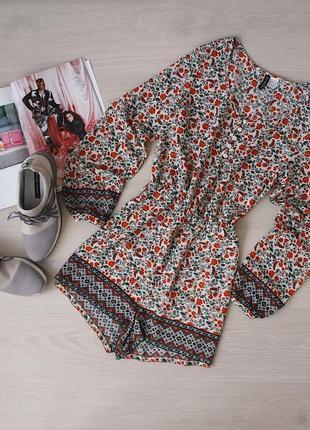 Шикарный ромпер / комбинезон / шорты в цветочный принт от h&m