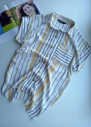Стильна рубашка oversize ,футболка в полоску