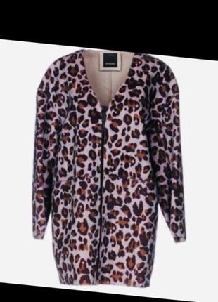 Pinko италия новое раскошнле пальто без подкладки размер l