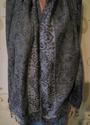 Пашмина шарф палантин платок шаль. 55% пашмина 45% шелк