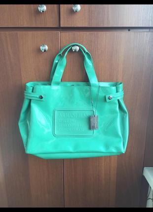 Armani оригинал италия сумка бирюзовая , купила в италии за 10...