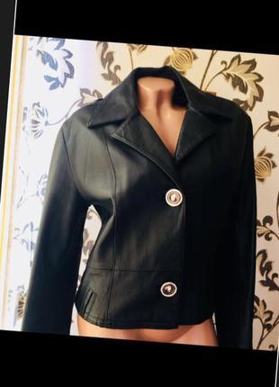 Кожаная куртка пиджак жакет 100% италия