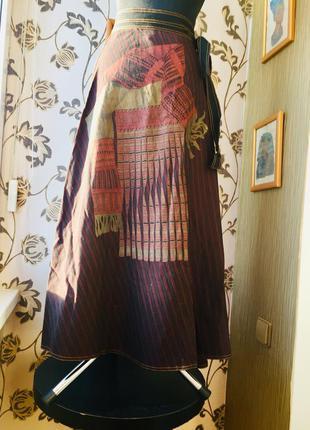 Италия новая юбка в пол на запах в стиле бохо